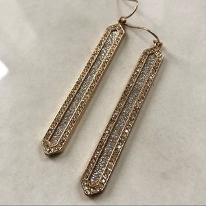 Rose Gold Rhinestone Sparkly Earrings